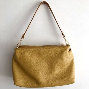 Valentina Leather Multi Entry Shoulder Yellow